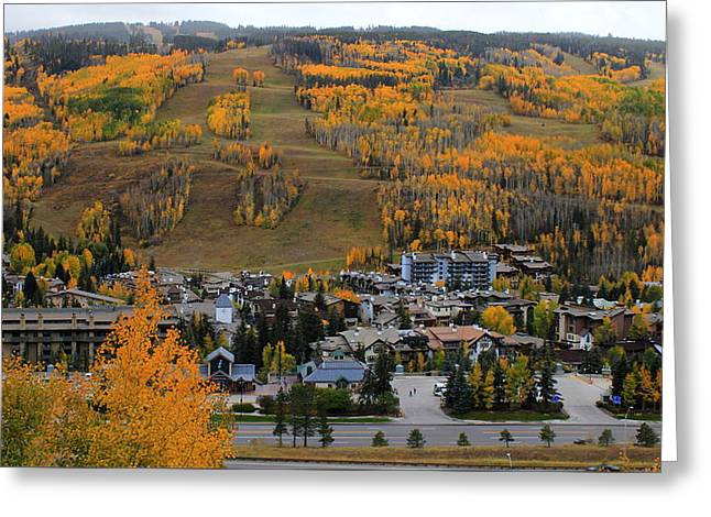 Vail Colorado Greeting Card by Fiona Kennard