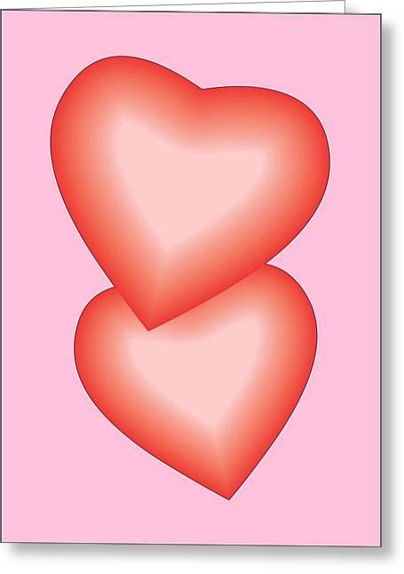 Valentine Hearts Greeting Card