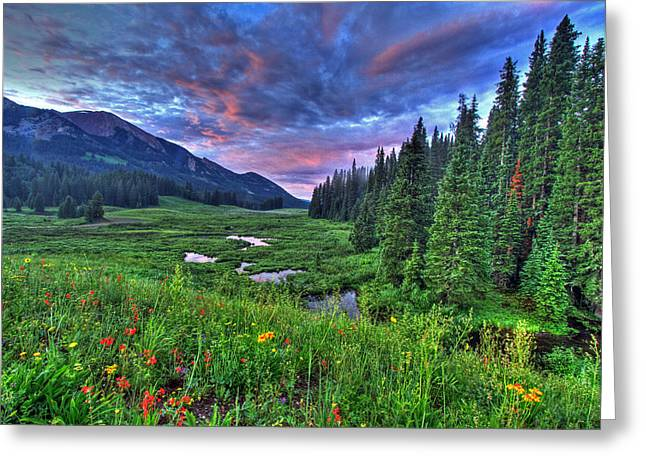 Valley View Greeting Card by Scott Mahon
