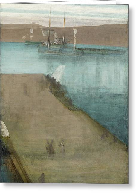 Valparaiso Harbor Greeting Card by James Abbott McNeill Whistler