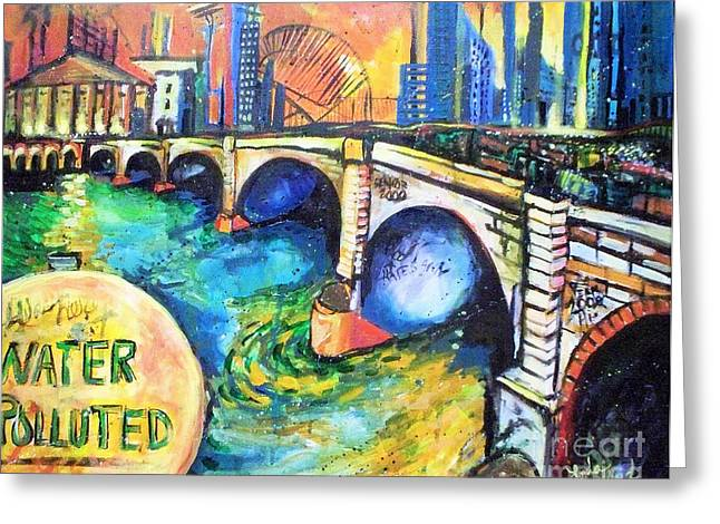Greeting Card featuring the painting Van Gogh Today by Linda Shackelford