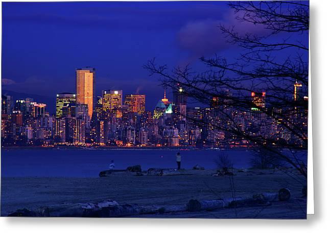 Vancouver Skyline Greeting Card by Paul Kloschinsky