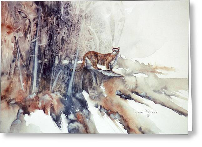 Vantage Point Greeting Card by Lynne Parker