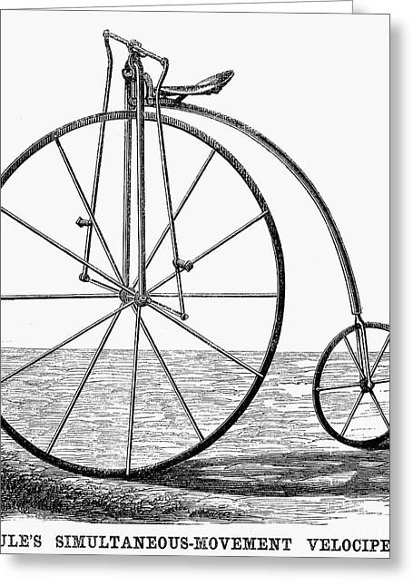 Velocipede, 1869 Greeting Card by Granger