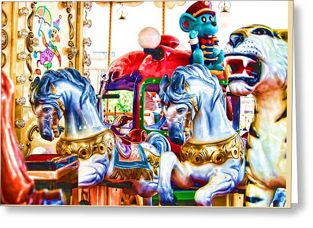 Venez Rouler Le Carrousel Greeting Card by JAMART Photography
