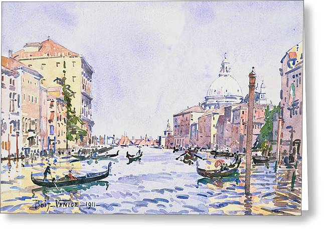 Venice - Afternoon On The Grand Canal Greeting Card by Edward Darley Boit