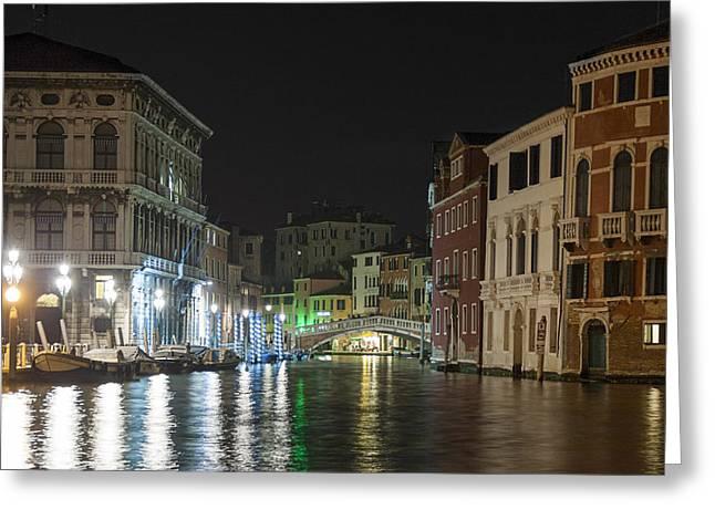 Romantic Venice  Greeting Card by Silvia Bruno