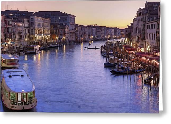 Venice Canal Grande Greeting Card by Joana Kruse