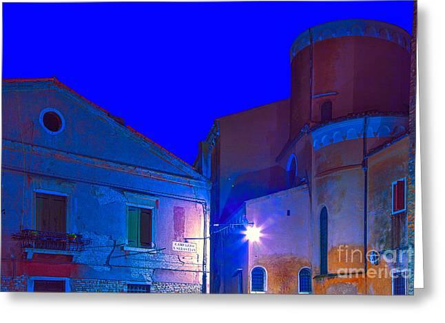 Venice Dorsoduro At Twilight Greeting Card by Jean-luc Bohin