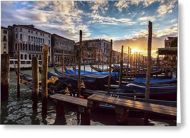 Venice Greeting Card by Evgeni Dinev