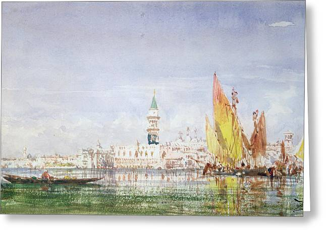 Venice Greeting Card by Felix Ziem