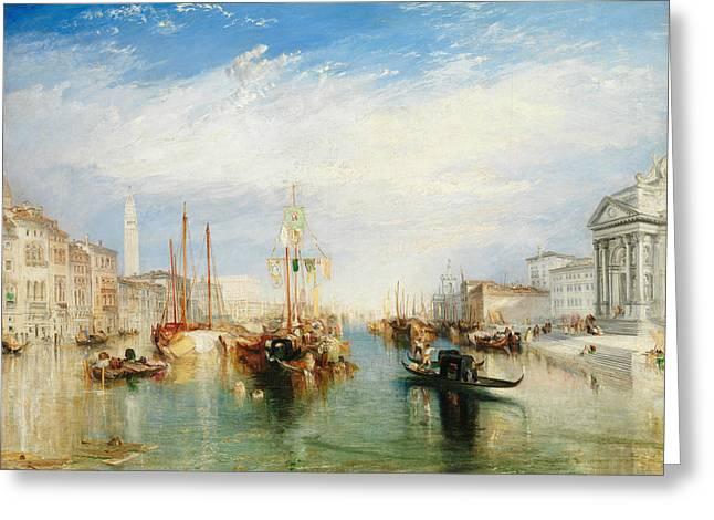 Venice, From The Porch Of Madonna Della Salute Greeting Card by Joseph Mallord William Turner