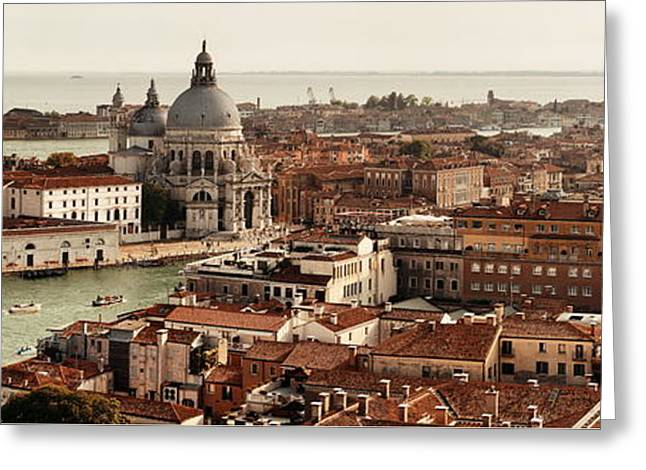 Greeting Card featuring the photograph Venice Grand Canal by Songquan Deng