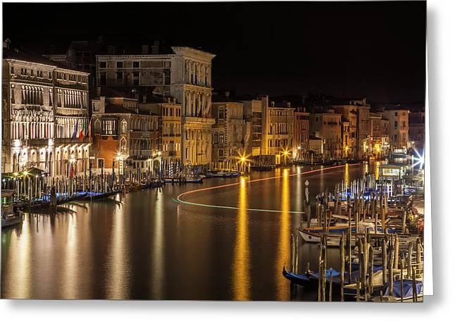 Venice View From Rialto Bridge Greeting Card