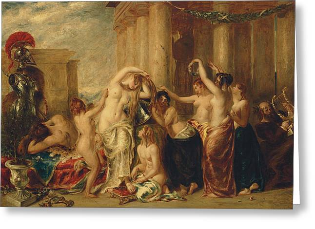 Venus And Her Satellites Greeting Card by William Etty
