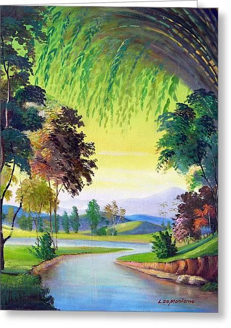 Verde Que Te Quero Verde Greeting Card by Leomariano artist BRASIL