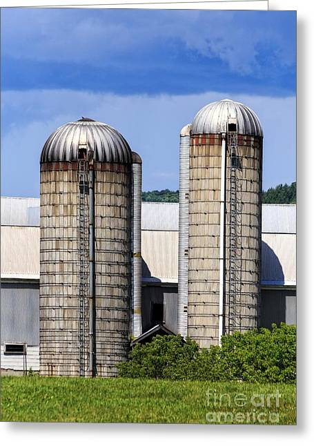 Vermont Silos Greeting Card
