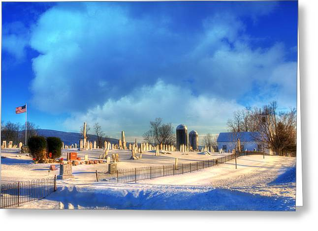 Vermont Winter Scene Greeting Card