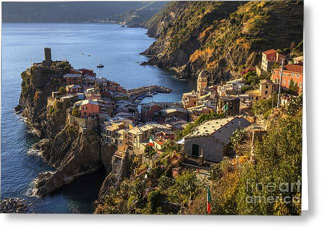 Vernazza Greeting Card by Spencer Baugh