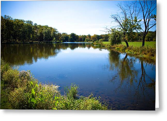 Valerie Morrison Greeting Cards - Verona Park Greeting Card by Valerie Morrison