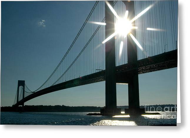 Verrazano Bridge Starburst Greeting Card