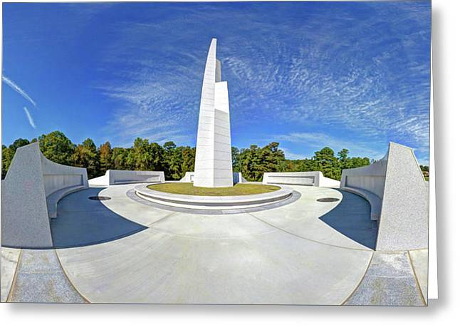 Veterans Freedom Park, Cary Nc. Greeting Card