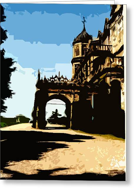Viceregal Lodge Greeting Card by Padamvir Singh