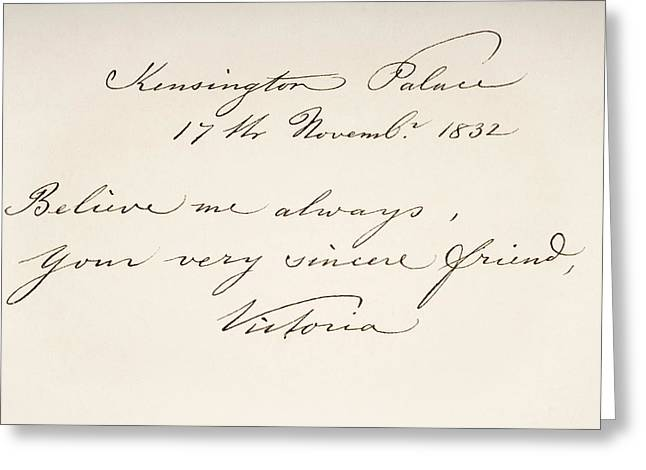 Victoria Maria Louisa Duchess Of Kent Greeting Card