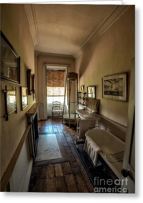 Victorian Bathroom Greeting Card by Adrian Evans