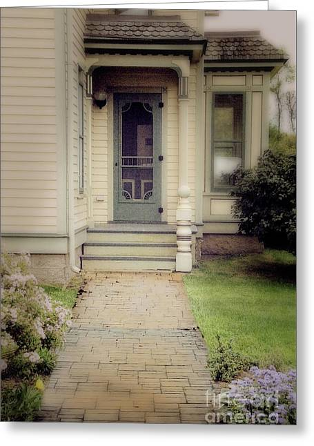 Victorian Porch Greeting Card by Jill Battaglia