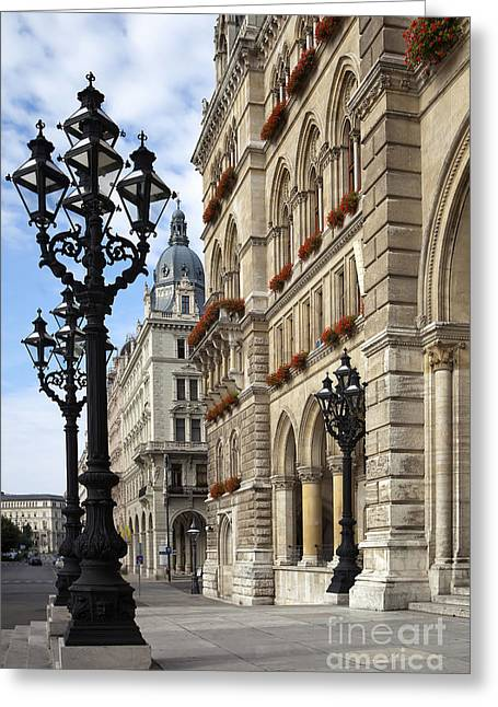 Vienna City Hall Greeting Card by Andre Goncalves