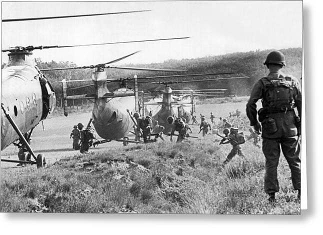 Vietnam Us Army Advisors Greeting Card