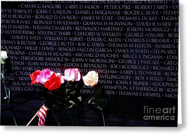 Vietnam Veterans Memorial Greeting Card by Thomas R Fletcher