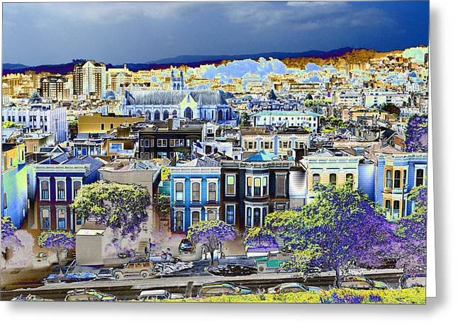 View From Alta Plaza Greeting Card