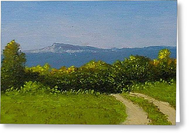 Greeting Card featuring the painting View From The Rim by Fred Wilson