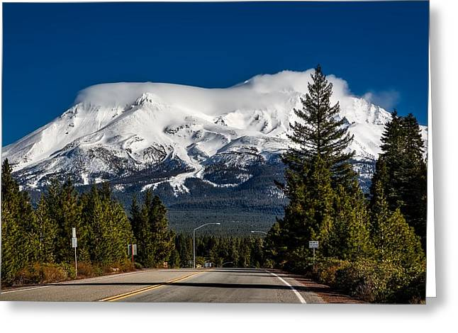 View Of Mount Shasta Greeting Card by Mountain Dreams