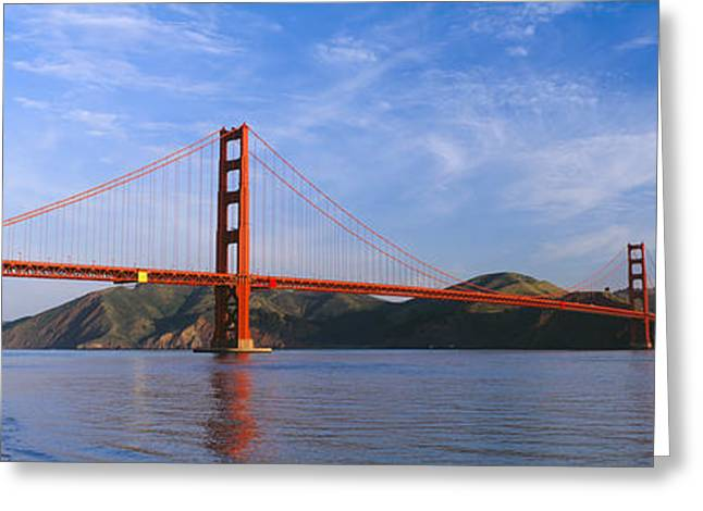 View Of The Golden Gate Bridge, San Greeting Card