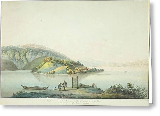 View Of The Island Greeting Card