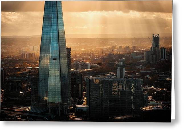 View Of The Shard Greeting Card by Ian Hufton