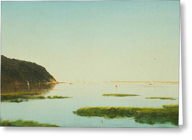 View Of The Shrewsbury River New Jersey Greeting Card