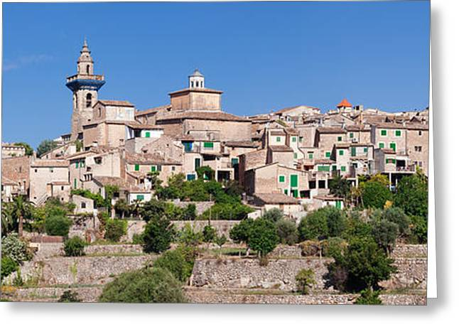 View Of The Valldemossa, Majorca Greeting Card by Panoramic Images