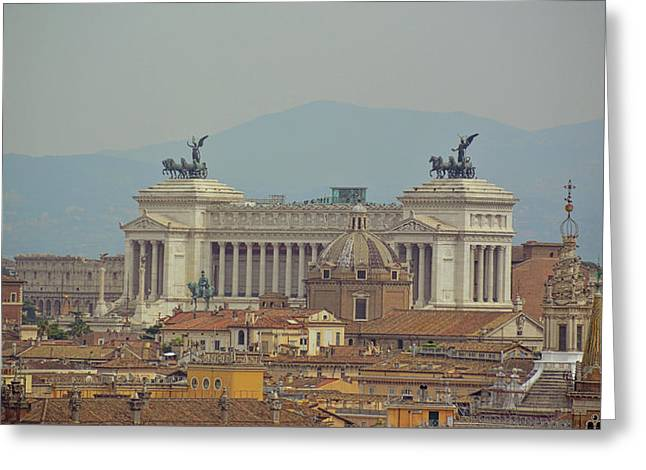 View Of Vittoriano Greeting Card by JAMART Photography