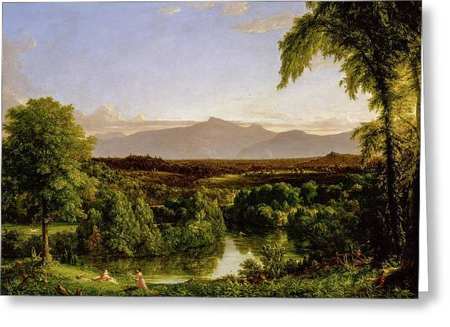 View On The Catskill - Early Autumn Greeting Card by Thomas Cole