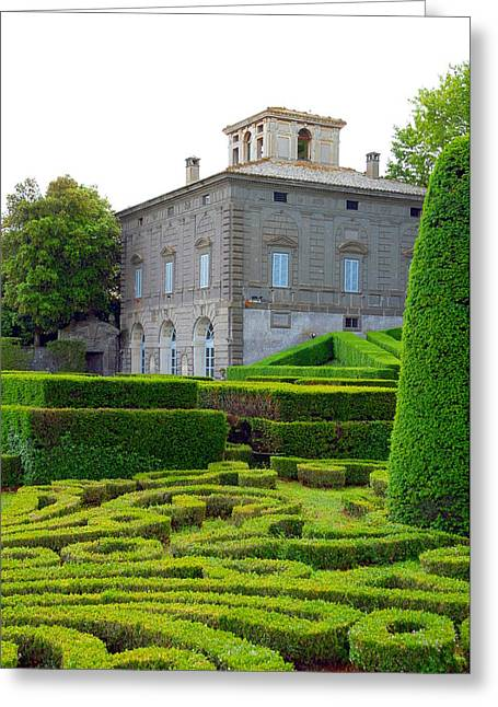 Villa Lante Gardens Greeting Card by Valentino Visentini