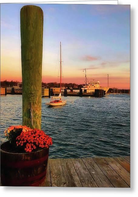 Vineyard Haven Sunrise - Martha's Vineyard Greeting Card