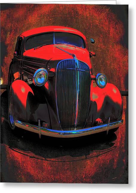 Vintage Car Art 0443 Greeting Card by Lesa Fine