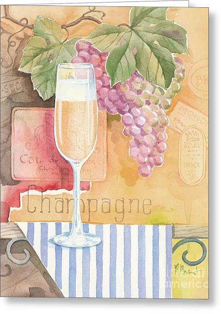 Vintage Champagne Greeting Card by Paul Brent