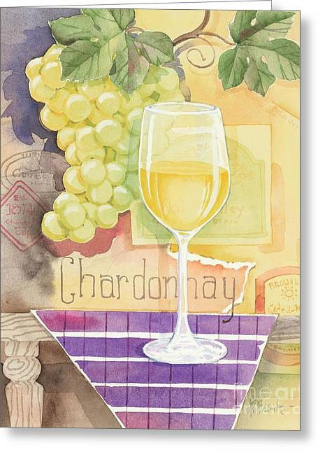 Vintage Chardonnay Greeting Card by Paul Brent