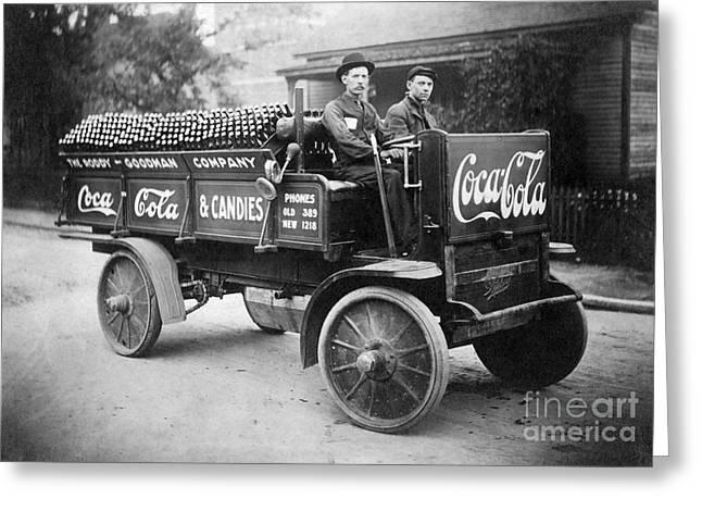Vintage Coke Delivery Truck Greeting Card by Jon Neidert