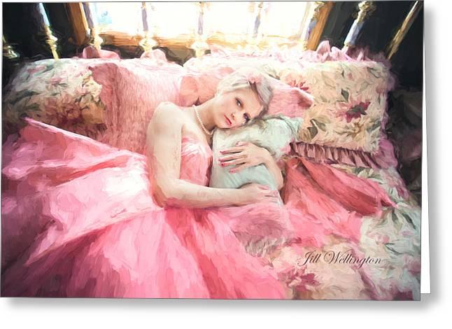 Vintage Val Bedroom Dreams Greeting Card
